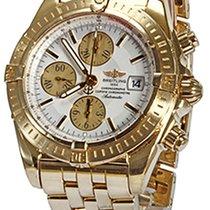 Breitling Chronomat Evolution Or jaune 44mm Blanc