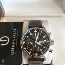 IWC Pilot Chronograph Staal 43mm Bruin