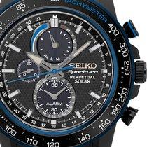 Seiko SSC429P1 Sportura Solar Alarm Perpetual Chrono 45mm 100M