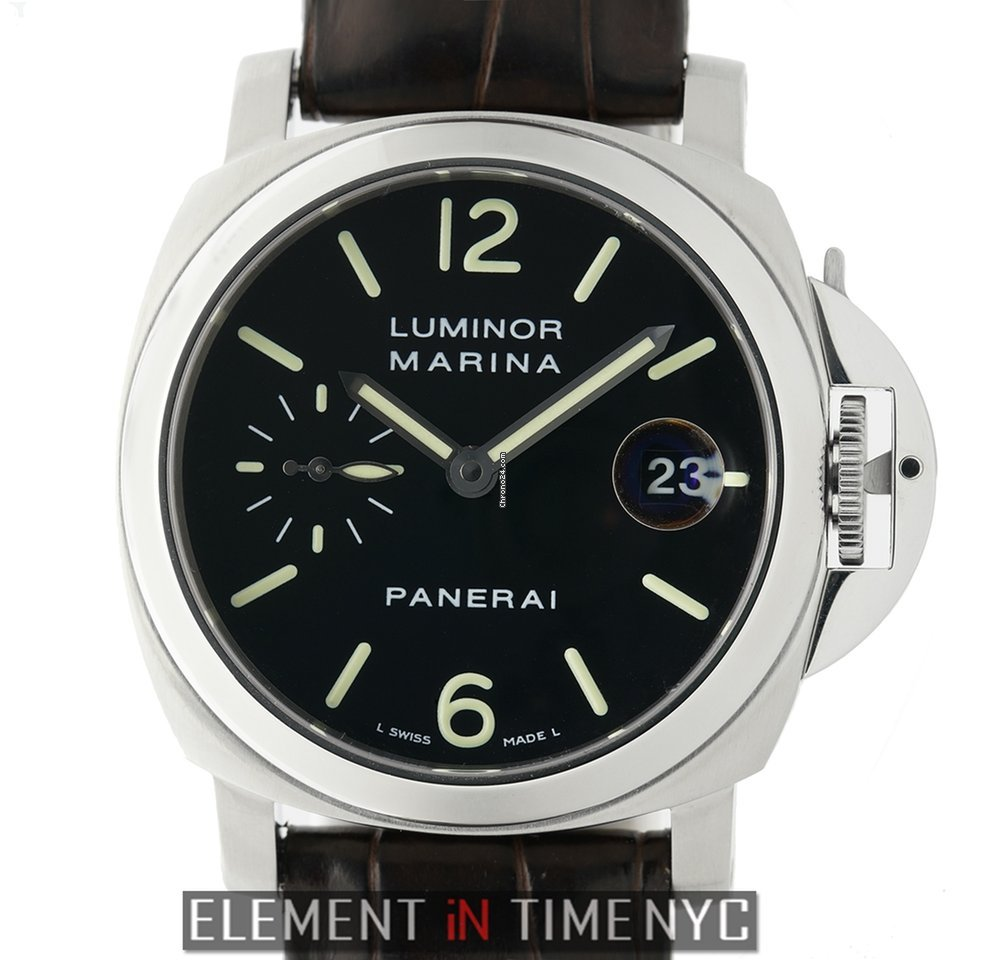 big sale 1fa27 0d957 Panerai Luminor Collection Luminor Marina 40mm Steel Black Dial I Series  Circa 2006