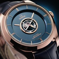 Omega De Ville Central Tourbillon Red gold 38,7mm Blue No numerals