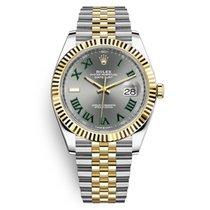 Rolex Datejust 41 Wimbledon Dial Jubilee