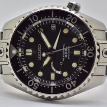 Seiko Marinemaster Titanium 46mm Black No numerals