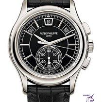 Patek Philippe Platinum Automatic Black No numerals 42mm new Annual Calendar Chronograph