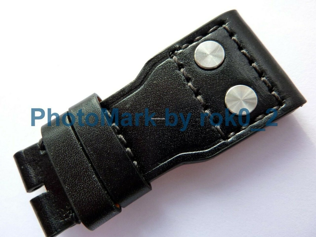 3dc172462 IWC Santoni Big Pilot Black Leather 22mm X 18mm Strap Band ... for $465 for  sale from a Trusted Seller on Chrono24