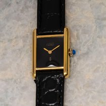 Cartier Tank Vermeil Silver 28mm Black United States of America, Texas, Houston