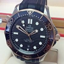Omega Seamaster Diver 300 M Gold/Steel 42mm Black No numerals