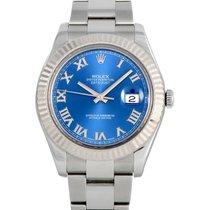 Rolex Datejust II Otel 41mm Albastru Roman