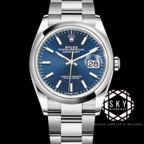 Rolex Datejust Steel 36mm Blue No numerals United States of America, New York, New York