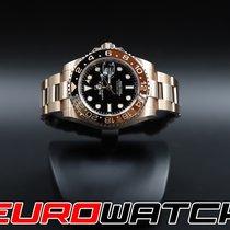 Rolex Pозовое золото Автоподзавод Чёрный Без цифр 40mm подержанные GMT-Master II