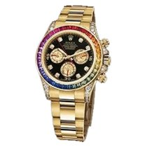 Rolex Used 116598RBOW_used Yellow Gold Daytona Rainbow -...