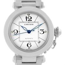 Cartier Pasha C 35mm White Dial Steel Bracelet Unisex Watch...