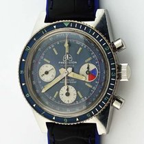 Ollech & Wajs Chronograph 38mm Manual winding 1960 pre-owned Blue