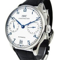 IWC 500107 Portuguese 7 Day 42mm Automatic in Steel - on Black...