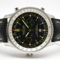 Breitling A41350 Navitimer Chrono-matic Limited Edition Ss Blk...