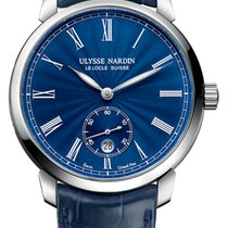 Ulysse Nardin Classico Steel 40mm Blue United States of America, New York, Airmont