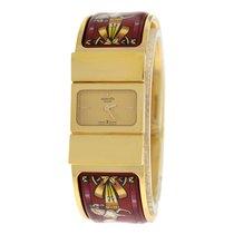 Hermès Ladies Hermes  Loquet L01.201 Gold Plated Bracelet