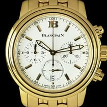 Blancpain Yellow gold 38mm Automatic Blancpain Leman Chronograph 2185-1418-63A pre-owned