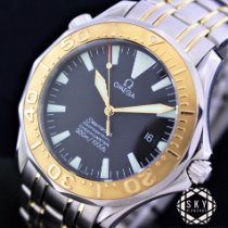 Omega Seamaster pre-owned 42mm Blue Gold/Steel