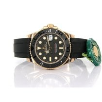 Rolex Yacht-Master 37 Yellow gold 37mm Black