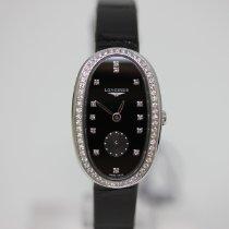 Longines neu Quarz Kleine Sekunde Edelstein- & Diamantenbesatz 21mm Stahl Saphirglas