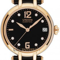 Union Glashütte Sirona Aur roz 32mm Negru