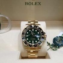 Rolex Geelgoud Automatisch Groen Geen cijfers 40mm nieuw GMT-Master II