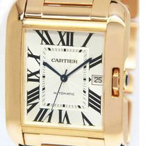Cartier Tank Anglaise Rose gold 47mm Silver Roman numerals