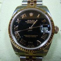 Rolex Datejust, Ref. 178271 - schwarz römisch ZB/Jubileband