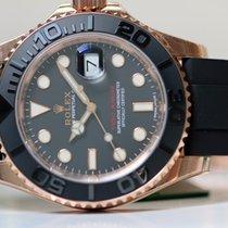 Rolex Or rose Remontage automatique Noir Sans chiffres 40mm nouveau Yacht-Master 40