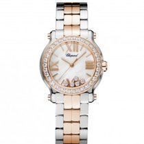 Chopard 278509-6005 Happy Sport 30mm Gold Diamonds Lady