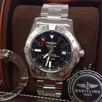 Breitling Avenger II GMT Stahl 43mm Schwarz Arabisch