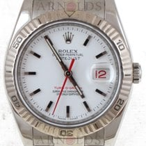 Rolex 2003 Datejust Turn-O-Graph White Dial With Red Second Hand