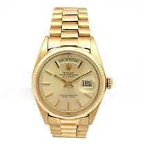 Rolex Pre-owned 36mm 18K Yellow Gold Daydate Vintage Watch  #1808