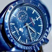 Omega Céramique Remontage automatique Bleu Sans chiffres 44,25mm nouveau Speedmaster Professional Moonwatch Moonphase