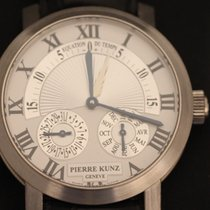 Pierre Kunz White gold Automatic Silver Roman numerals 42mm pre-owned