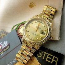 Rolex Day-Date 36 tweedehands 36mm Datum Geelgoud