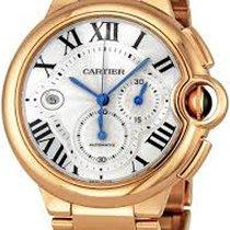 Cartier Ballon Bleu 44mm pre-owned Silver Chronograph Rose gold