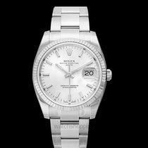 Rolex Oyster Perpetual Date Acier 34.00mm Argent