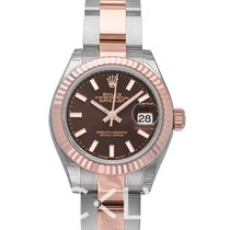 勞力士 Lady Datejust 28 Chocolate 18k Everose gold/Steel 28mm - 279