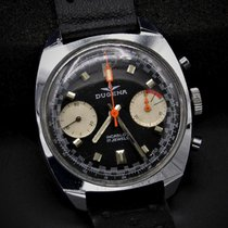 Dugena Chronograph 36mm Manual winding 1970 pre-owned Black