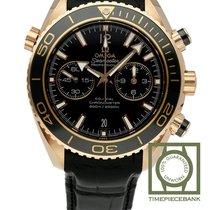 Omega Roodgoud Automatisch Zwart Arabisch 45.5mm nieuw Seamaster Planet Ocean Chronograph