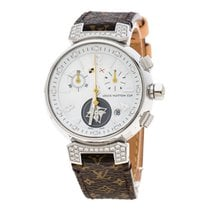 Louis Vuitton Steel Quartz Louis Vuitton White Mother of Pearl Stainless Steel new