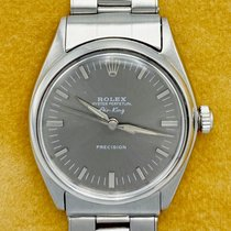 Rolex Air King Precision Stål 34mm Silver Inga siffror