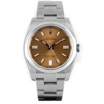 Rolex Oyster Perpetual 36 Stahl 36mm Champagnerfarben