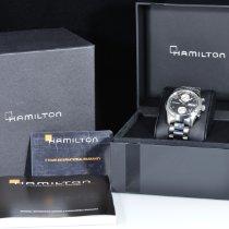 Hamilton Khaki Field occasion 38mm Noir Chronographe Date Affichage des jours Acier