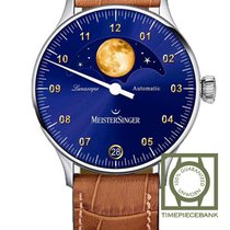 Meistersinger new Automatic Display back 40mm Steel Sapphire crystal