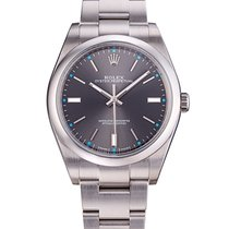 Rolex Oyster Perpetual Dark rhodium dial