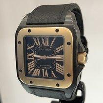 Cartier Santos 100 Steel 38mm Black Roman numerals