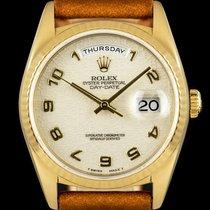 Rolex Day-Date 36 Oro amarillo 36mm Champán Arábigos
